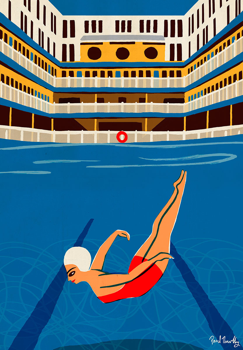 Piscine molitor paul thurlby for Piscine paris 13