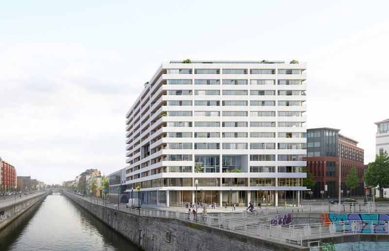 Residential tower brussels belgium architecture by bureau vers